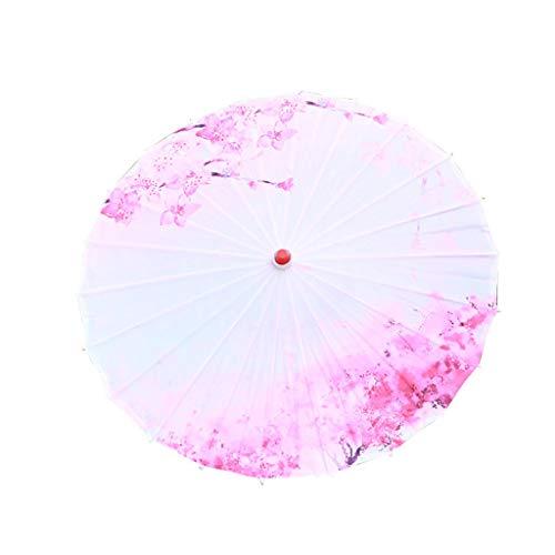 Y56(TM) Chinesischer Schirm, Regenschirm Sonnenschirm Deko Schirm Tanz Schirm, Chinesischer Stil, aus Bambus und Seidentuch, Sonnenschirm Stockschirm Tanz Schirm Dekoschirm (22.45