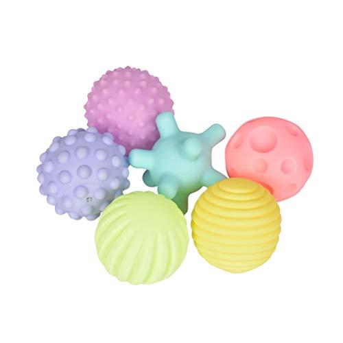 Toyvian Juguete para el Desarrollo de la Bola del Masaje de la Bola del Juego de la Bola del Juego del Juguete de la Mano del bebé para el niño del bebé - 6pcs
