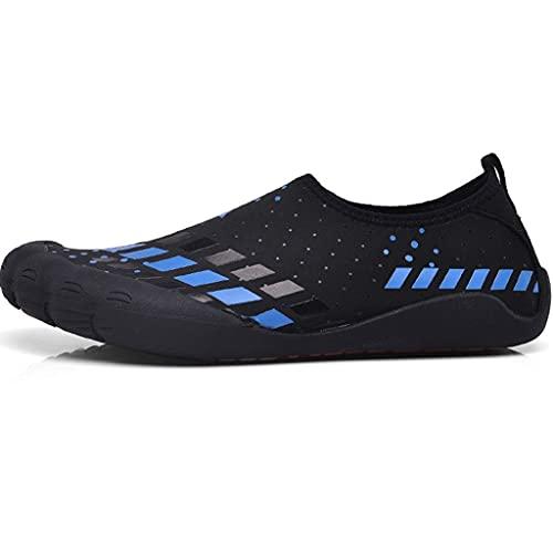 YUESFZ Zapatos De Playa De Pareja Al Aire Libre De Verano, Zapatos De Agua Ligeros De Moda De Secado Rápido, Zapatos De Vadeo Cómodos Y Transpirables (Color : A, Size : US-9.5(Men))
