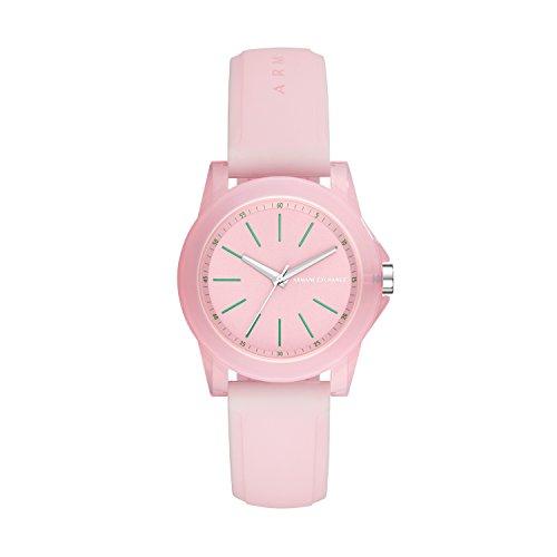Armani Exchange dames analoog kwarts smartwatch polshorloge met siliconen armband AX4361