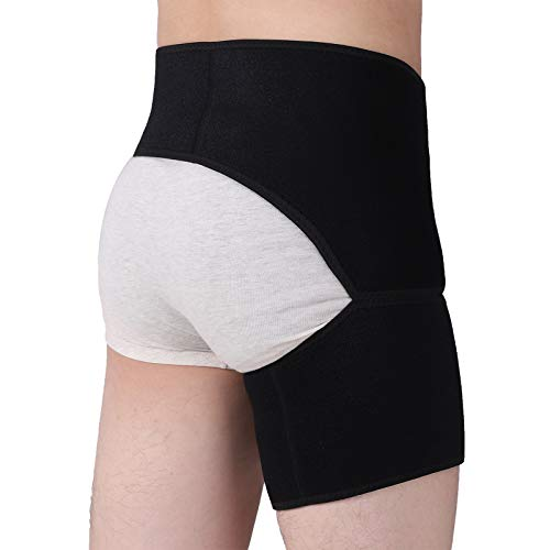 Tenbon Hip Brace Sciatica Nerve Pain Relief Groin Support Thigh Back Brace Si Joint Belt for Men and Women Compression Wrap for Pulled Muscles Hip Flexor Recovery Injury Sprain Relief