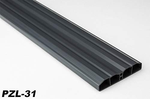 Zaunlatten Sparpaket PZL-31   widerstandsfähiges Hart-PVC   Kunststoffzaun   Balkonbretter   pflegeleicht   Graphit modern   80 x 16 mm   Hexim   10 Meter