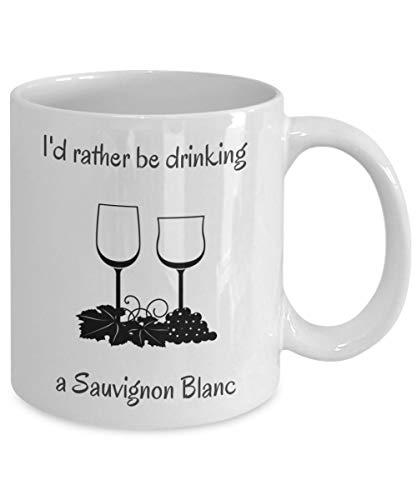 N\A Esto podría ser Vino - Hora del Vino - Taza de café con Vino - Preferiría Beber una Taza de Vino Sauvignon Blanc
