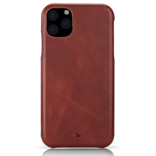 BULLAZO Menor Classic – kompatibel mit iPhone 11 Case Schutzhülle Handy Hülle aus hochwertigem Leder iPhone XI braun