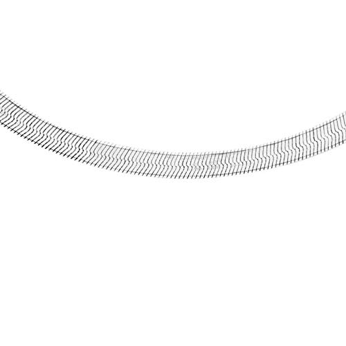 Tuscany Silver Women's Sterling Silver 3.1 mm Flat Snake Chain Necklace of Length 41 cm/16 Inch