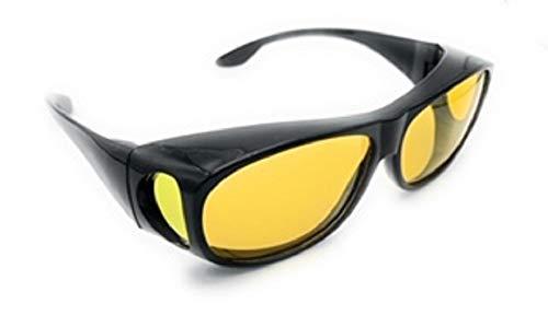 x loop night vision driving glasses Wrap Around Night Vision Glasses, Fit Over Glasses with Polarized Yellow Lens Night Driving Glasses