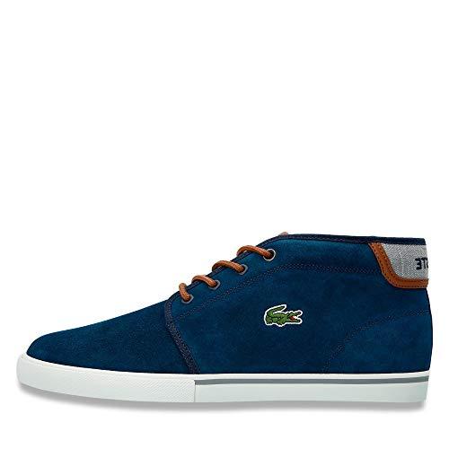 Lacoste 736CAM0004NT1 Herren Sneakerbootie aus Veloursleder Ortholite-Funktion, Groesse 45, Marine
