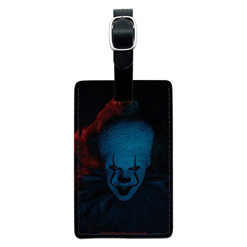 IT: Chapter 2 Blue Pennywise Rectangle Leather Luggage Card Carry-On ID Tag