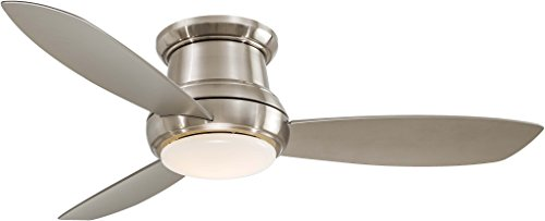 Minka-Aire Concept II 52' LED Flush Mount Ceiling Fan in Brushed Nickel