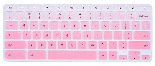 Keyboard Cover Compatible Acer Chromebook R 11 CB5-132T CB3-131, Chromebook R 13 CB5-312T, Chromebook 14 CB3-431 CP5-471, Chromebook 15 CB3-531 CB5-571 C910 US Layout (Ombre Pink)