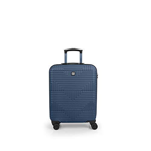 Gabol - Shock | Hard Cabin Suitcase 40 x 55 x 20 cm with Capacity for 37 L Blue