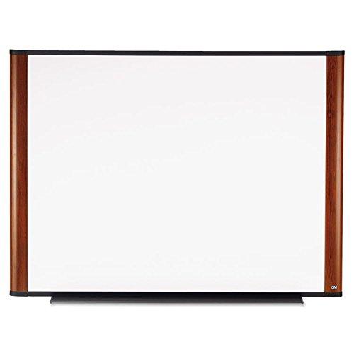 3M Melamine White Dry Erase Board, 48 x 36, Mahogany Aluminum Frame (M4836MY)
