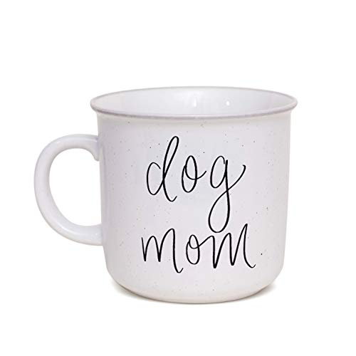 Sweet Water Decor Dog Mom Coffee Mug   Cute 16oz Ceramic Campfire Style Coffee Cup Microwave & Dishwasher Safe   Large Mug For Dog Moms, Pet Owners, Puppy Lovers, and Dog Adoption