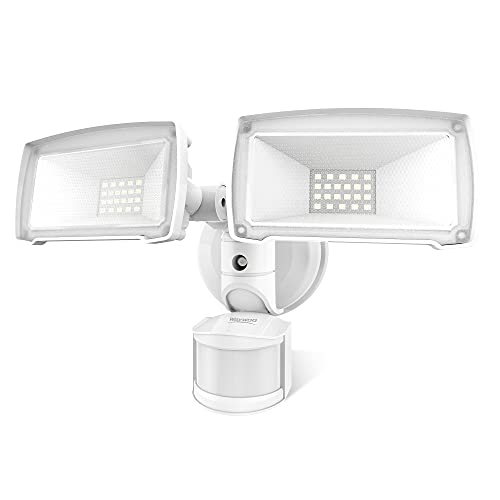 LED Flood Light Outdoor, Waywoo 30W Security Light, 180° Motion Activated, 3500lm Dusk to Dawn Motion Sensor Outdoor Light, Waterproof IP65, AC Wired, 5500K, ETL Listed Floodlight for Backyard, Garage