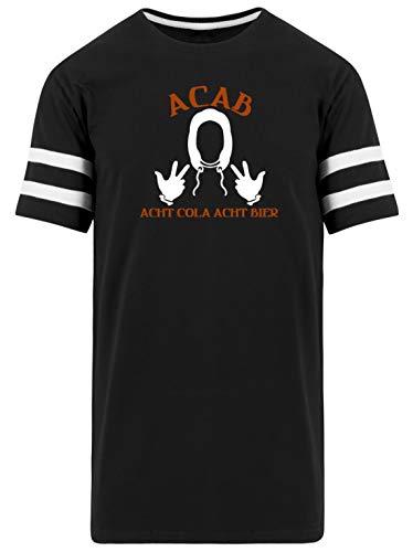 A.C.A.B. - Acht Cola Acht Bier - All Cops Are Bastards - Alle politieagenten zijn Bastarde - Mannen Striped Long Shirt