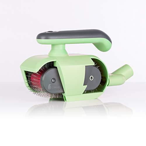 FurWonder Elektrische Hundebürste / Fellbürste in mint für Hunde und Pferde - Entfernen von überschüssiger Unterwolle