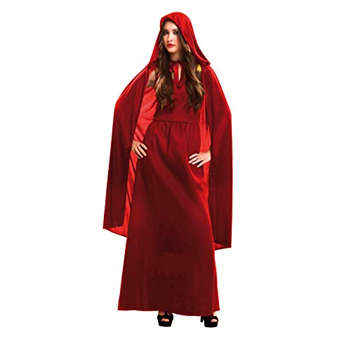My Other Me Me-202065 Disfraz de hechicera malvada para mujer, color rojo, M-L (Viving Costumes 202065)