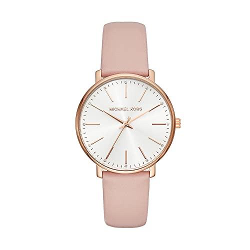 Michael Kors Damen Analog Quarz Uhr mit Leder Armband MK2741