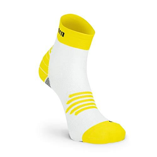 Nordhorn Kurze Sportsocken für Damen und Herren, Quarter Sneaker Socken Atmungsaktiv zum Laufen, Joggen, Fitness, Radfahren (Gelb, 44-46)