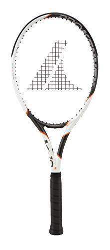 PROKENNEX Ki 10 305, Racchetta da Tennis Unisex Adulto, Bianco, Carbonio, Arancione, 3