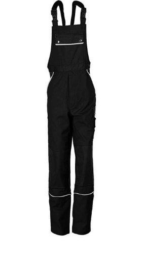 TMG Latzhose Arbeitshose Berufsbekleidung Canvas 320 g/m² (72, schwarz)