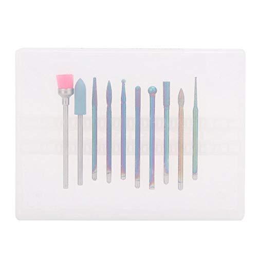 10 pcs Électrique Nail Drill Bits Set, Nail Polisher Accessoire, diamant cuticule nail drill bits set for Manicure Pedicure Home Salon Use