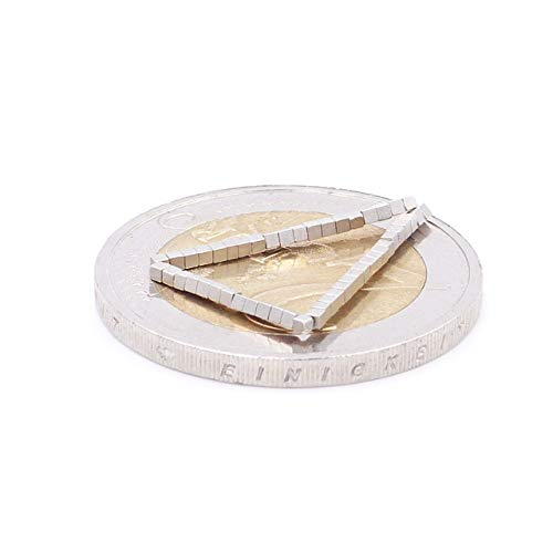 Brudazon | 50 mini kubusmagneten 1 mm | N52 dikke stand - neodymium magneten ultrasterk | Power magneet voor modelbouw, trein, sieraden, knutselen | dobbelsteentjes extra sterk