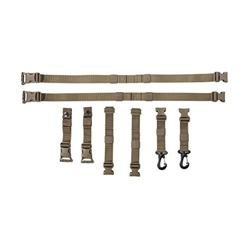 Tasmanian Tiger TT Pouch Harness Adapter Set zur Befestigung von Zusatz-Taschen an Rucksack-Schultergurten, Coyote Brown
