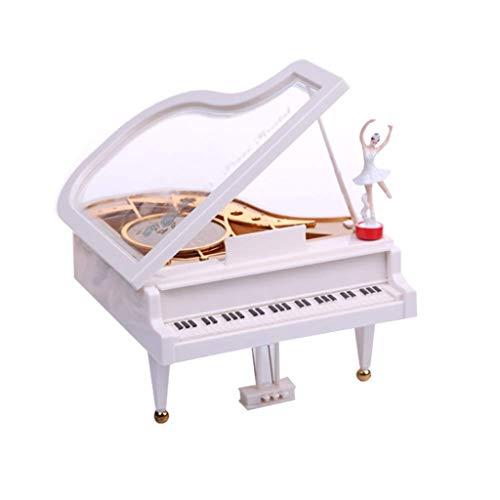 Caja De Música Mecanismo de caja de música de piano de la forma y el modelo de racionamiento de chicas Cajas de música for el regalo de cumpleaños regalo de la decoración del sitio casero de los niños