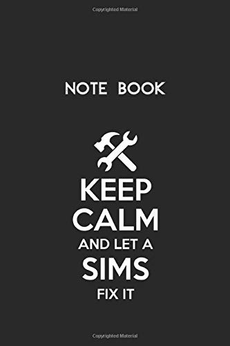 Notebook: Sims Funny Surname Birthday Family Tree Reunion Gift IdeaLined Pages Notebook White Paper Blank Journal with Black Cover Size 6in x 9in x 115 pages for Kids or Men and Women Mechanics
