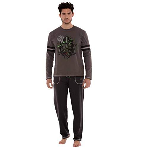Javier Golmar Pijama de Hombre Dark Side 6601 - Gris Oscuro