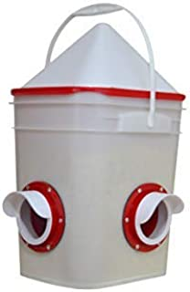Chicken Feeder-Holds 20 Pounds-Pellets-Crumbles-Grain in Bucket – for 21st Century..