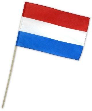 Fahne Flagge Niederlande 30 x 45 cm mit Stab