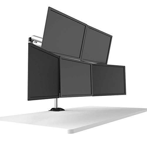 Cotytech BL-DM140 - Soporte para cinco monitores con movimiento completo independiente y liberación rápida