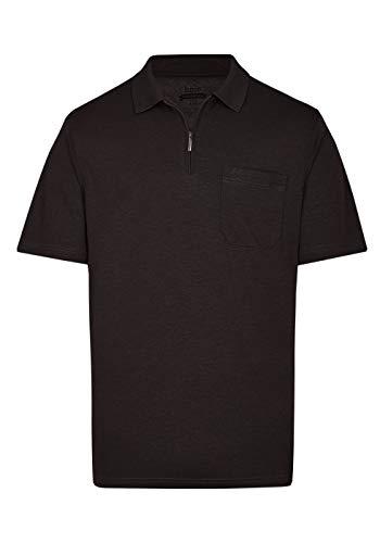 hajo Herren H RV Softknit Poloshirt, Black (Schwarz 100), XXX-Large (Herstellergröße: 58)