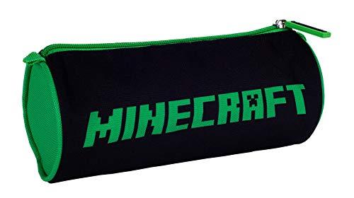 Minecraft - Estuche para lápices, Negro/Verde