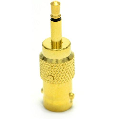 BNC Buchse Zum Composite 3,5 mm Männlich Klinkenstecker Stecker Adapter Vergoldeten