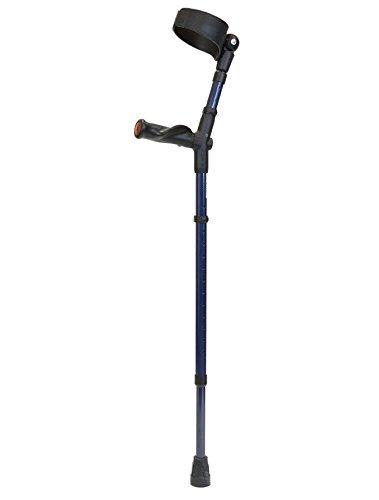 Walk Easy Adult Forearm Crutches Anatomic Grip Model 495 (Pair) (Model 495 Coal)