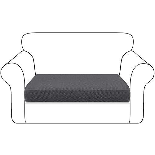 Granbest - Funda de cojín para asiento de sofá, duradera, funda de asiento de sofá, protector de muebles, para cojines individuales (2 plazas), color gris