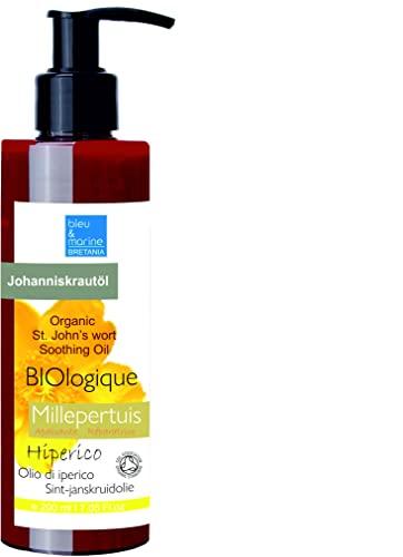OLIO Di IPERICO 200 ml Olio di Erba di San Giovanni rosso vivo Concentrato molto puro Olio d'Oliva Infuso di Iperico 100% Naturale Tintura Olio massaggi