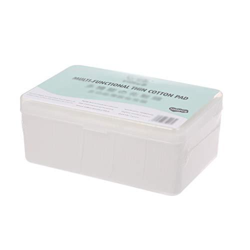 DUOER HOME Gesichtsmake-up Entferner 1000 Stücke Boxed Einweg ultradünne Baumwolle Make-Up Entferner Tücher Nagellackentferner Reinigung Gesicht Seidenpapier (Color : White, Größe : 5 * 6cm)
