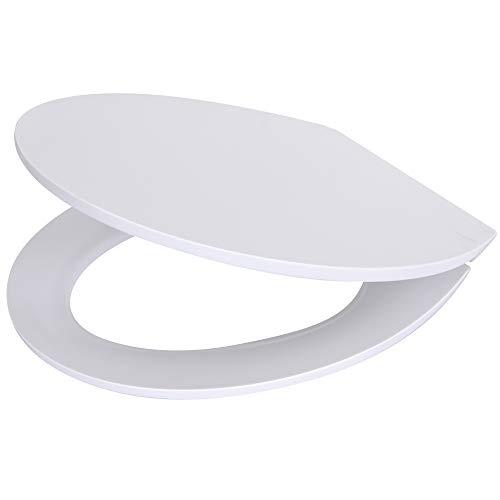 Sanilo® WC Sitz mit Absenkautomatik Top I Hochwertiger und abnehmbarer Toilettensitz aus Duroplast I Toilettendeckel ist leicht von oben zu montieren