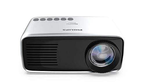 Philips NeoPix Start Mini Tragbarer Projektor für Zuhause / Unternehmen - 60 Zoll 1080p FHD LED Stereo Lautsprecher 650 Lumen Vollständige Konnektivität HDMI USB MicroSD (20 Jahre Lebensdauer)