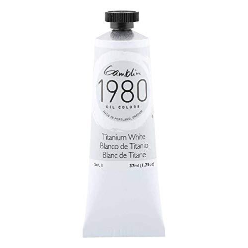 Gamblin 1980 Oil Titanium White 37Ml by Gamblin