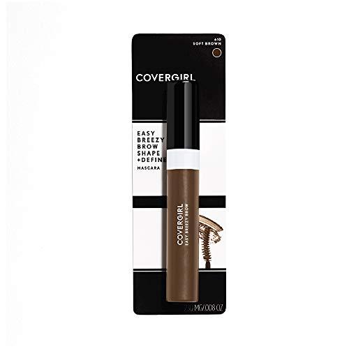 COVERGIRL Easy Breezy Brow Shape & Define Eyebrow Mascara, Soft Brown, 0.3 Fluid Ounce...