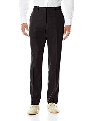 Perry Ellis Men's Portfolio Modern Fit Performance Pant, Black, 34x29