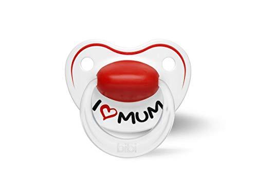 Bibi Happiness Chupete Nuggi - I Love Mum Dentales, 0-6 Meses