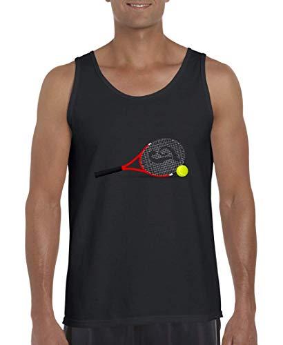 Druckerlebnis24 Tank Top - Tennisschläger Tennis Tennisball Kugel - Muskelshirt für Männer und Herren