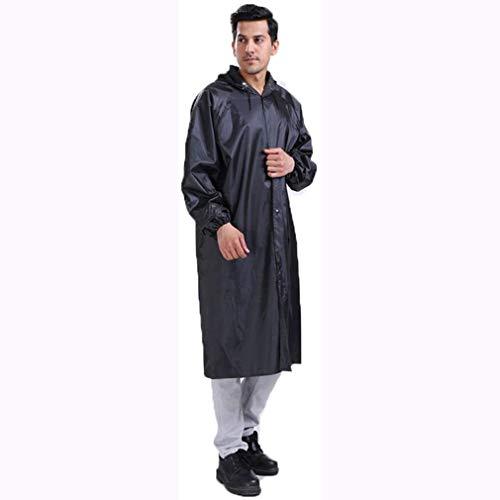 Regenjas Heren Zwart Lang regenjas met capuchon waterdichte Lightweight Long Regenjas Regenkleding