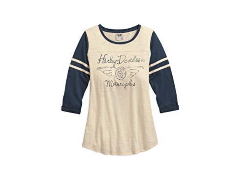 HARLEY-DAVIDSON Shirt Sleeve Colorblock, L